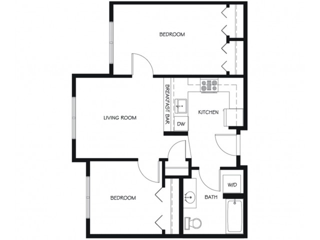 B12 | 2 bed 1 bath | from 713 square feet