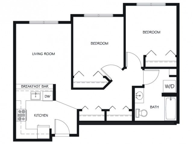 B17 | 2 bed 1 bath | from 791 square feet