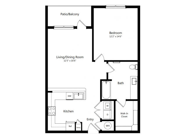 A5 | 1 bed 1 bath | from 822 square feet