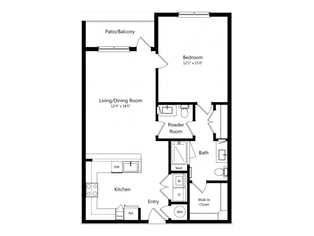 B4 | 1 bed 2 bath | from 856 square feet