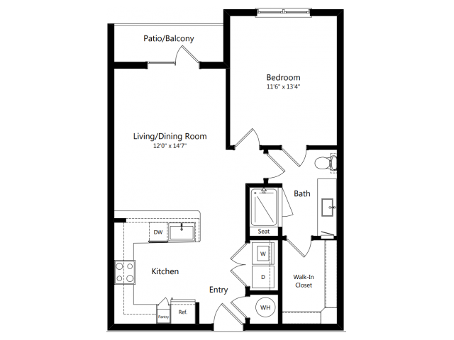 A4 | 1 bed 1 bath | from 699 square feet