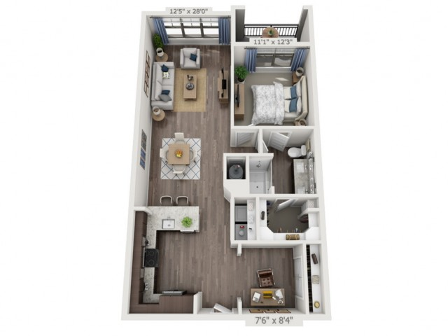A3 | 1 bed 1 bath | from 969 square feet