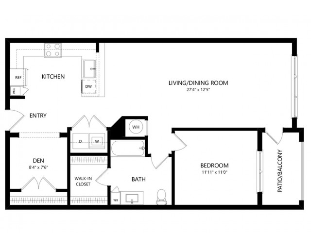A3HC | 1 bed 1 bath | from 969 square feet