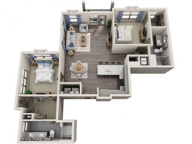 Marley | 2 bed 2 bath | from 1405 square feet