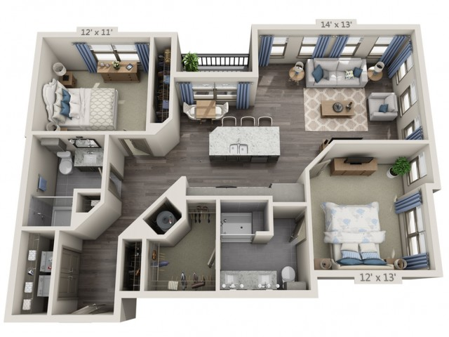 Lennon | 2 bed 2 bath | from 1211 square feet