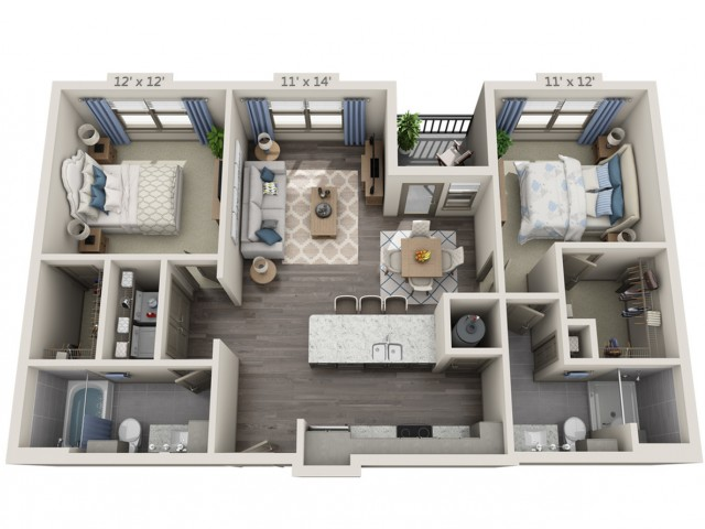 Knight | 2 bed 2 bath | from 1060 square feet