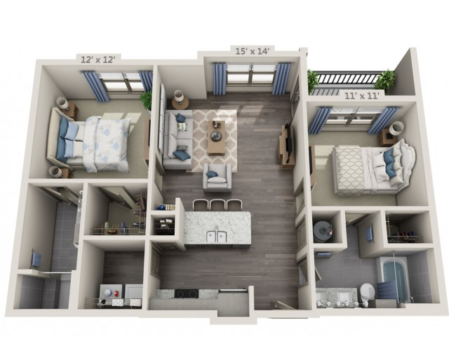 Harrison | 2 bed 2 bath | from 970 square feet
