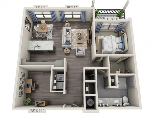 Garfunkel | 1 bed 1 bath | from 1015 square feet