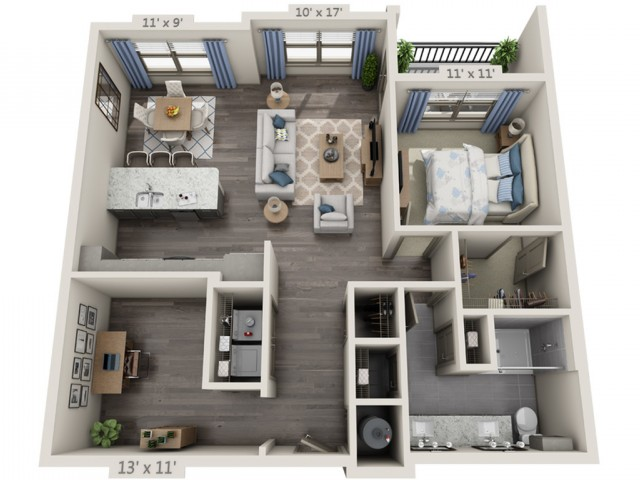 Dylan | 1 bed 1 bath | from 1018 square feet