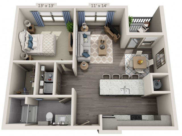 Clapton | 1 bed 1 bath | from 797 square feet