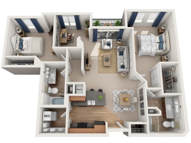 Santana | 2 bed 2 bath | from 1172 square feet