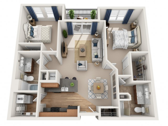 Harrison | 2 bed 2 bath | from 1035 square feet