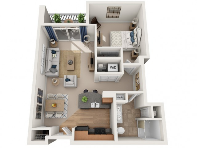 Young | 1 bed 1 bath | from 705 square feet