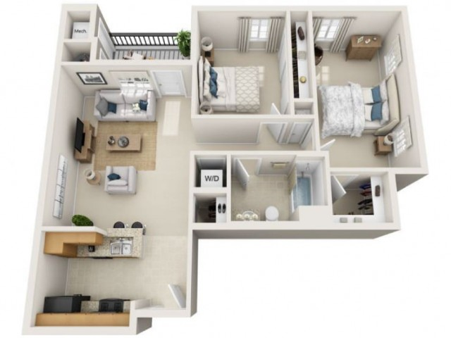 Simmons | 2 bed 1 bath | from 931 square feet