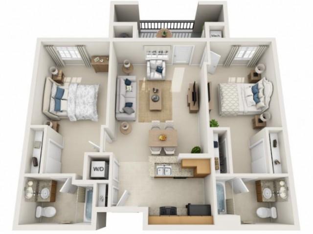 Santana | 2 bed 2 bath | from 934 square feet