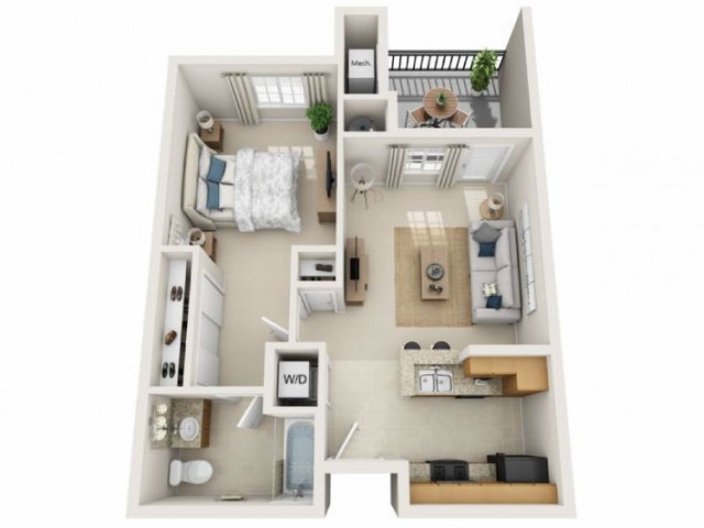 Marley | 1 bed 1 bath | from 637 square feet