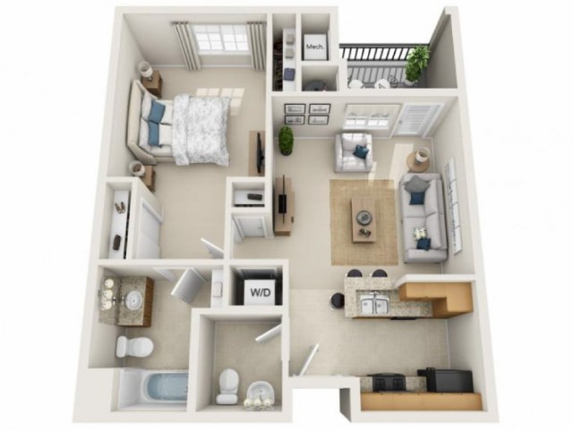 Mccartney | 1 bed 2 bath | from 739 square feet