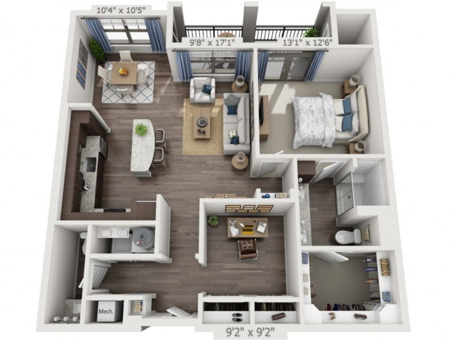 A4c | 1 bed 1 bath | from 1064 square feet