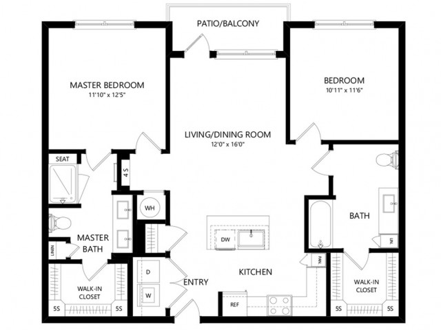 B1HC | 2 bed 2 bath | from 1051 square feet