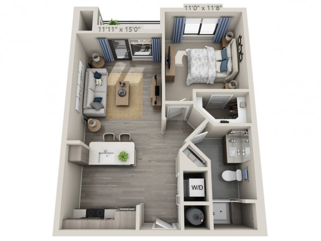 A2 | 1 bed 1 bath | from 680 square feet