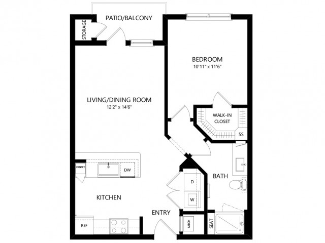 A1 | 1 bed 1 bath | from 678 square feet
