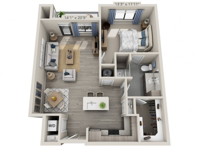 A6 | 1 bed 1 bath | from 852 square feet