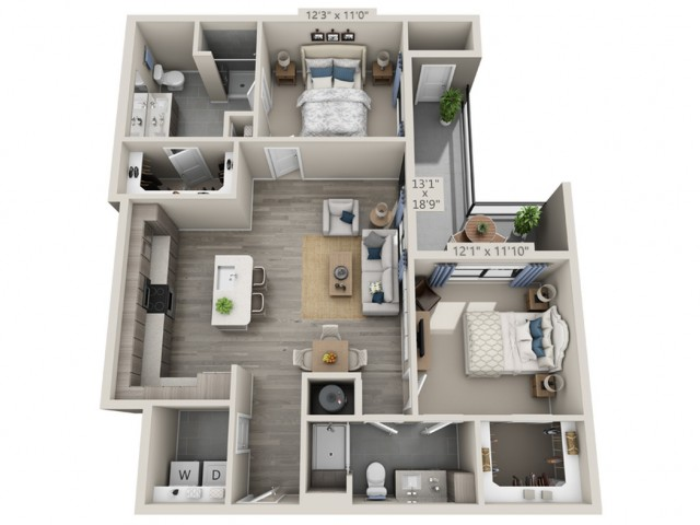 C3 | 2 bed 2 bath | from 1129 square feet