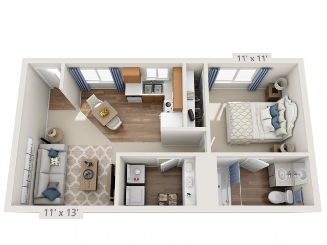 Winwood | 1 bed 1 bath | from 750 square feet