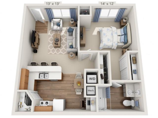 Joplin | 1 bed 1 bath | from 754 square feet