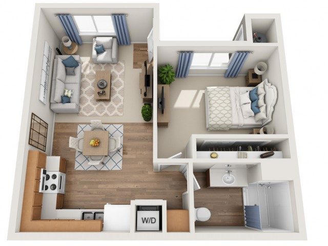 Buffet | 1 bed 1 bath | from 625 square feet