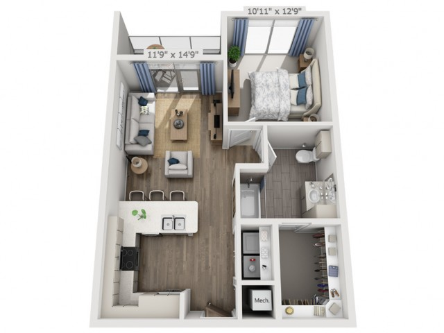 B3HC | 1 bed 1 bath | from 710 square feet
