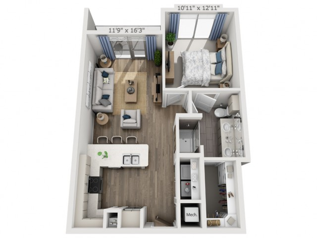 B4 | 1 bed 1 bath | from 718 square feet