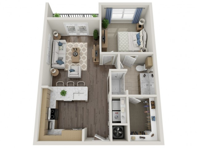 A3 | 1 bed 1 bath | from 681 square feet