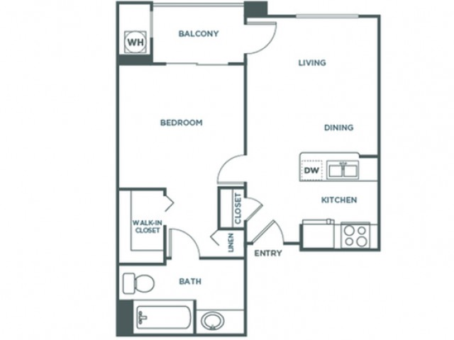 Alegra | 1 bed 1 bath | from 566 square feet