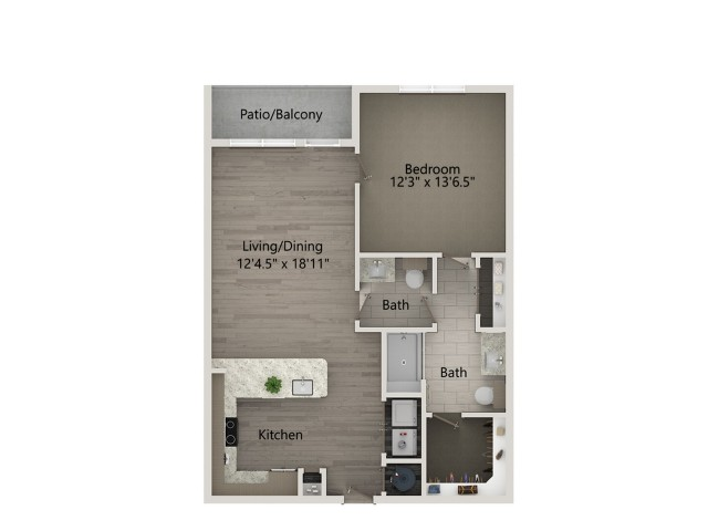 A4A   1 bed 1 bath   from 836 square feet