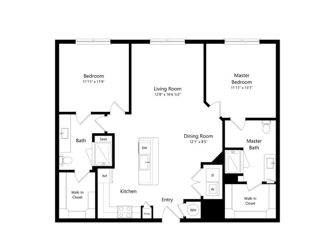 B2-HC   2 bed 2 bath   from 1178 square feet