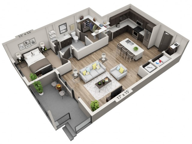 Guadalupe | 1 bed 1 bath | from 780 square feet