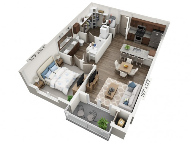 Cantata | 1 bed 1 bath | from 729 square feet