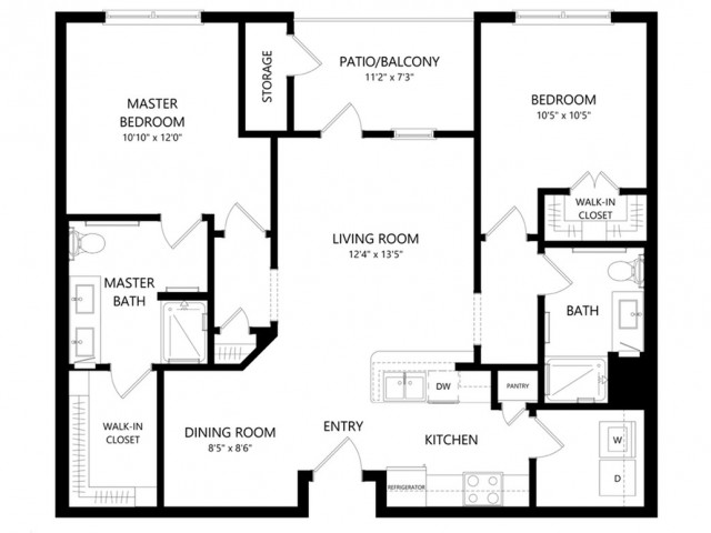 B1 | 2 bed 2 bath | from 1035 square feet