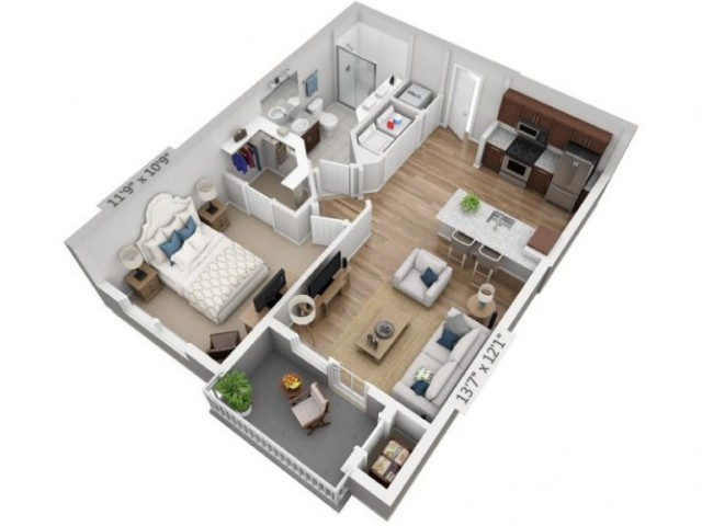 Allegro | 1 bed 1 bath | from 665 square feet