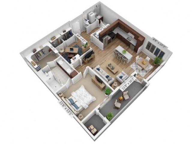 Espressivo | 1 bed 2 bath | from 956 square feet