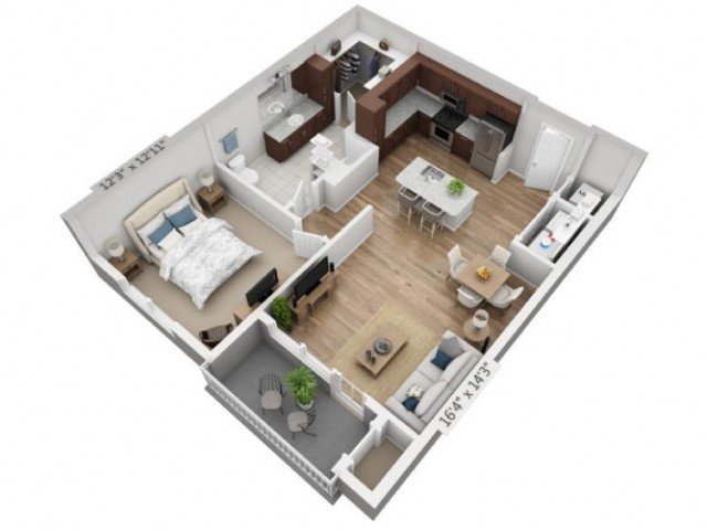 Cantata | 1 bed 1 bath | from 832 square feet