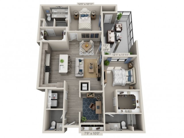 B4B   2 bed 3 bath   from 1391 square feet