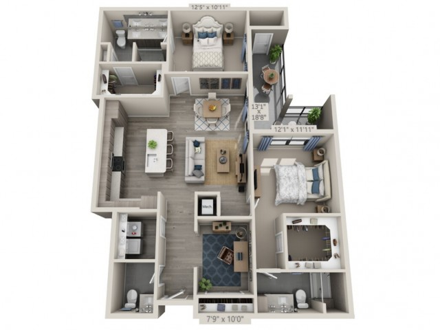 B4   2 bed 3 bath   from 1391 square feet