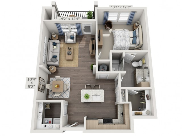 A2D | 1 bed 1 bath | from 835 square feet