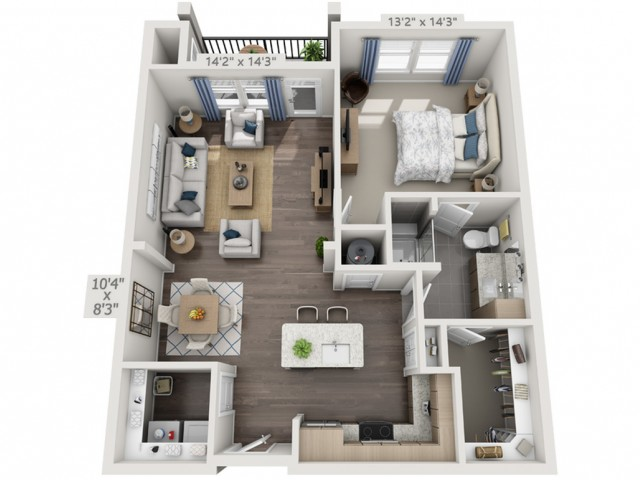 A2G   1 bed 1 bath   from 907 square feet