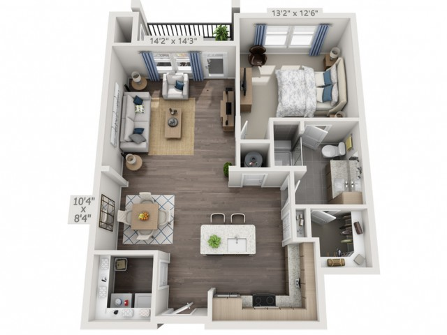 A2H | 1 bed 1 bath | from 880 square feet