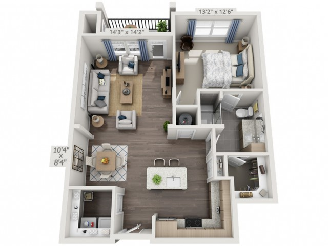 A2P | 1 bed 1 bath | from 879 square feet