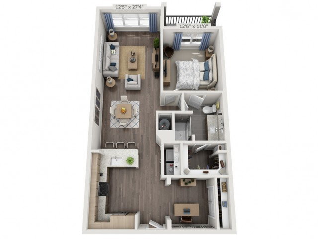 A3   1 bed 1 bath   from 976 square feet