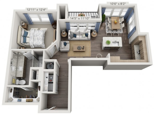 A5 | 1 bed 1 bath | from 842 square feet